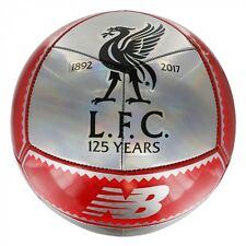 New Balance Liverpool  2017 - 2018 Soccer Ball 125th Years Edition Silver - Red