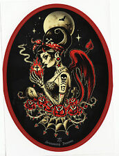 Sacred Heart psychobilly pin-up léopard Mexicain Day of the Dead Vinyle Autocollant
