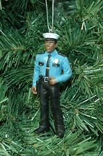 Black, African American Policeman, Lawman, Sheriff Christmas Ornament