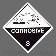 1000 x Dangerous Goods Corrosive 8 Label Stickers 20x20mm