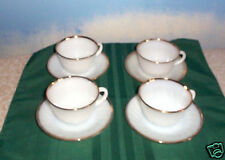 SET OF 4 GOLDEN ANNIVERSARY CUPS & SAUCERS FIRE KING