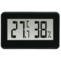Hama Thermo / Hygrometer Temperature Air Humidity in Black #136297 (UK Stock)