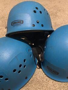 1 EDELRID ULTRALIGHT ROCK CLIMBING CAVING HELMET 55 - 61cm OUTDOOR SAFETY BLUE