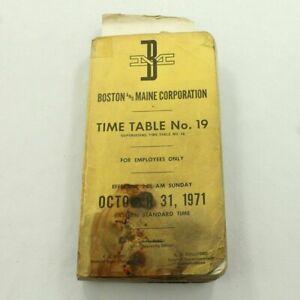 Boston & Maine Corporation Railroad 1971 ETT Timetable System RR TT