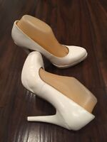 White Patent Pumps Sz 10
