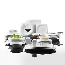 MALACASA 28-Pieces Ceramic Porcelain Dinner Set Bowls Soup Dessert Plates