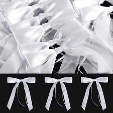 50x Antennenschleifen Weiß Brautwagen Dekoration Autoschmuck Hochzeit Schleifen