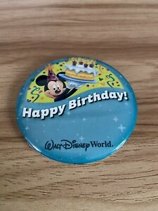 "WALT DISNEY WORLD MICKEY HAPPY BIRTHDAY CELEBRATING 3"" PIN BADGE"
