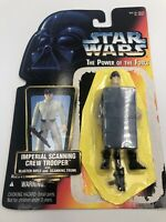 Star Wars POTF 1997 Imperial Scanning Crew Trooper Trunk SEALED FIGURE Complete