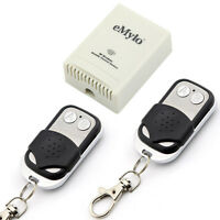 eMylo AC220V 1000W 2 Channels Wireless Remote Control Switch with 2 Transmitters