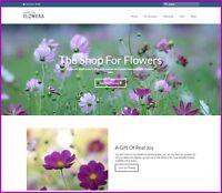 BEAUTIFUL FLOWERS Website Earn $13 A SALE FREE Domain FREE Hosting FREE Traffic