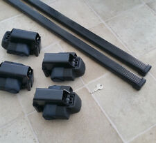 Thule Roof Rack 1054 Foot Pack set with locking caps and key + 115cm Bars