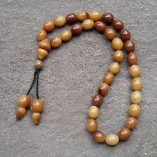 33 Beads Genuine Indonesia Gebang Palm Misbah Muslim Prayer Beads Medium