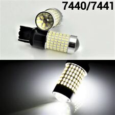 White Rear Turn Signal Lights T20 7440 7441 992 W21W 144 SMD LED Bulb A1 LAX