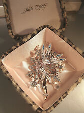 "KIRKS FOLLY VERY RARE ""DELPHINE SNOW QUEEN BROOCH/ENHANCER"" EXTREMELY BEAUTIFUL"