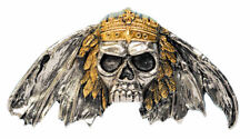 King of Death Gold and Silver Plated Belt Buckle