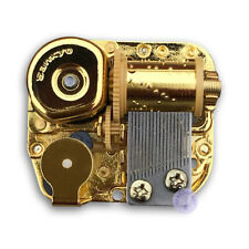 "Play ""Moon River"" Golden Plated Sankyo Musical Movement for DIY Music Boxes"