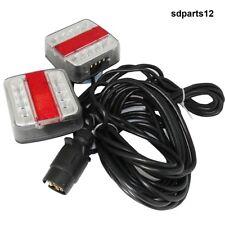 Kit 2 Luci a LED Posteriori Magnete E4 Connettore Trattore Rimorchi 12V