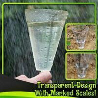 Conical Rain Meter Gauge Plastic Transparent Measuring Garden For Outdoor U C0S2