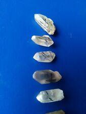 Tourmaline in Clear Quartz Crystal, NSW Australia (Tourmalinated Rutilated)