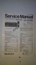 Technics sa-gx690 service manual original repair book stereo receiver