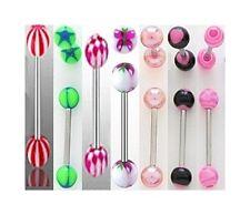 LOTS piercings barbell LANGUE mélanges de couleurs aléatoires, bijoux fantaisie,