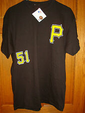 Majestic MLB Team Apparel Pittsburgh Pirates #51 Rodriguez Jersey TShirt Large