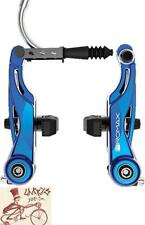 PROMAX P-1 MINI 85MM REACH LINEAR-V BRAKE BLUE BICYCLE BRAKE