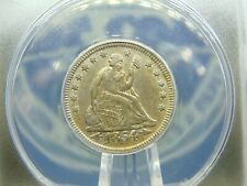 "1854 ""P"" Seated Liberty Quarter 25c ANACS AU53 East Coast Coin & Collectables"