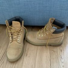 Ladies Childrens Timberland Boots Size UK 3.5 36 Tan Brown Leather Waterproof