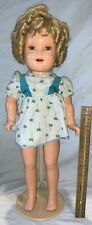 """ANTIQUE 21"""" SHIRLEY TEMPLE VINYL DOLL TOY ORIGINAL CLOTHES CHILD MOVIE STAR OLD"""