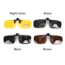 Polarized Clip On Sunglasses Driving Day Night Vision for Myopia Glasses Sha.QA