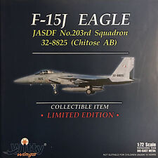 Witty Wings 1:72 F-15J EAGLE JASDF No.203rd Squadron 32-8825 Chitose AB Diecast