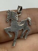 Vintage Sterling Silver 925 Small Horse Necklace Pendant