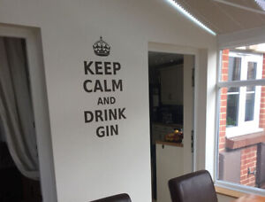 Keep calm and drink gin wall sticker | Gin wall decals