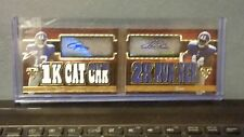 Odell Beckham Andre Williams 2014 Triple Threads Relic Pairs 18/18!! Giants 1/1!