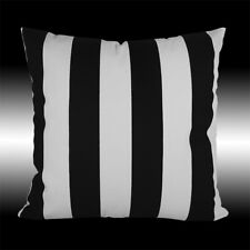 SIMPLE BLACK WHITE STRIPES COTTON SOFA DECO THROW PILLOW CASE CUSHION COVER 17""