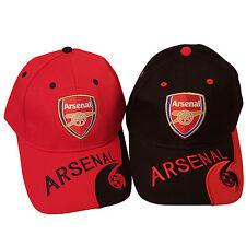 Fußballverein Arsenal London Baseball unisex Kappe (2 Stücke), rot und schwarz