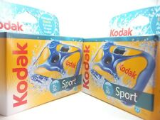 2x KODAK SPORT UNDERWATER WATERPROOF DISPOSABLE 35mm CAMERA Ist CLASS ROYAL MAIL