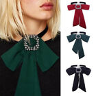 Vintage Women Bow Tie Chain Choker Statement Chunky Collar Necklace Pendant Gift