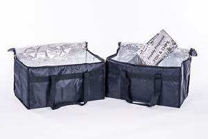 Extra Large Food Delivery Bags Insulated Thermal Bag with or without divider 39L