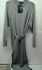 MARKS & SPENCERS UK 18 EURO 46 MERINO WOOL DRESS SEEMLESS SILVER GREY B.N.W.T.