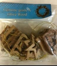 Brand New Olive Wood Christmas Tree Ornament Decorations made in Bethlehem.