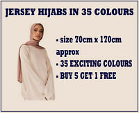 JERSEY STRETCHY HIJAB LARGE PLAIN LYCRA MAXI SCARF SHAWL WRAP WARM TOP QUALITY