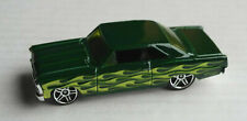Hot Wheels 1966 Chevy Chevrolet Nova dunkelgrün Flammen Flames Auto US-Car ´66