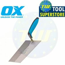 OX Pro 7in Bucket Trowel Carbon Steel 180mm Builders Brick Laying Cement Tools P