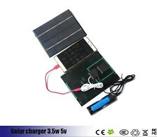 Portable solar powered cell phone charger 3.5 watts 5 volt