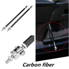 2pcs Adjustable Front Bumper Lip Splitter Strut Rod Tie Support Bar For Ford BMW
