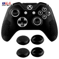 Soft Silicone Controller Case Thumb Stick Grip Caps for Xbox One X One S Black