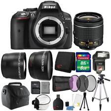 Nikon D5300 24.2MP DSLR Camera 18-55mm Lens + TTL Flash & Premium Accessory Kit